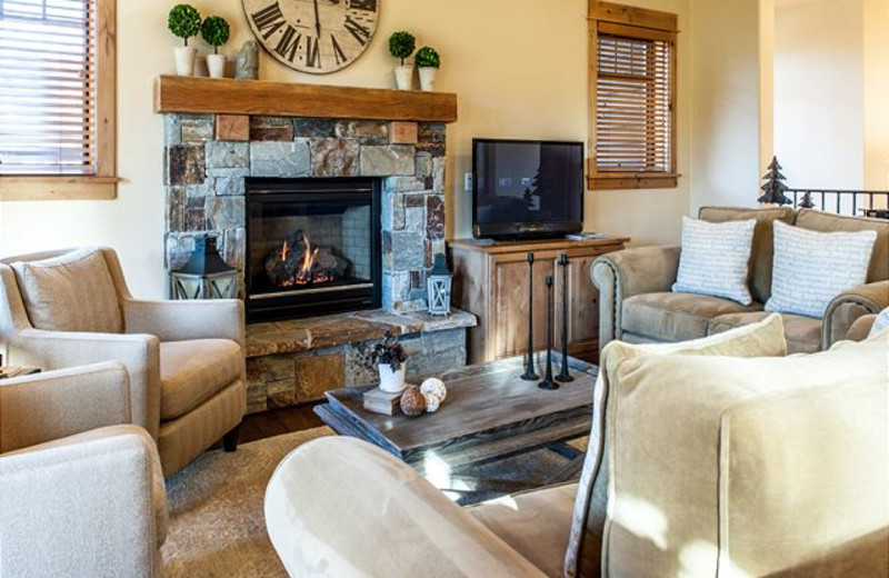 Fireplace in Rental at Tahoe Signature Properties