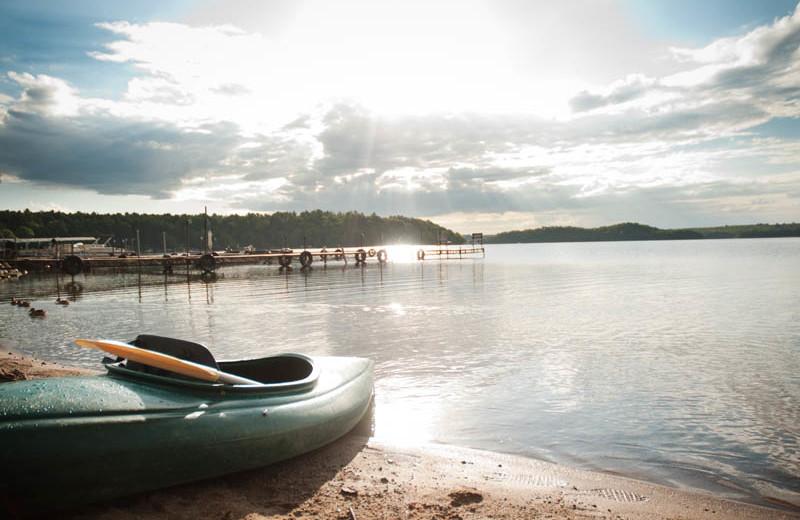 Lake view at Campfire Bay Resort.