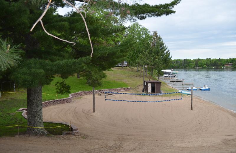 Beach at Bay View Lodge.