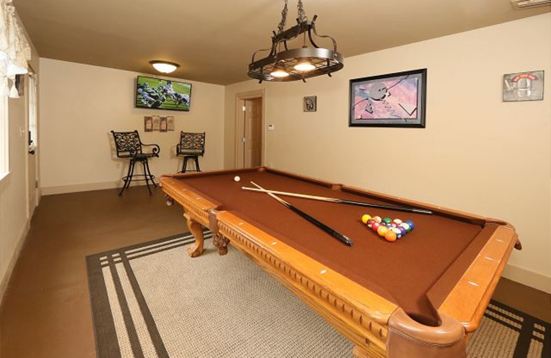 Recreation room at Smoky Mountain Resort Lodging and Conference Center.
