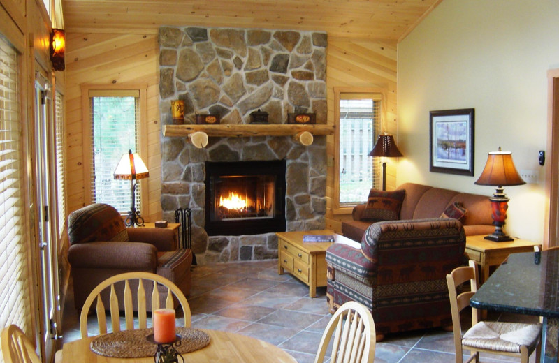 Cabin interior at River Point Resort & Outfitting Co.