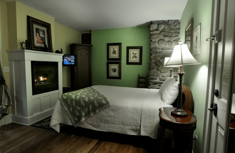 Sweet Basil room at Buttermilk Falls Inn & Spa.