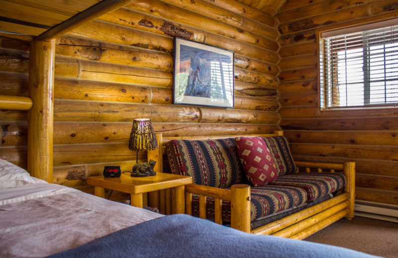 Cabin interior at Zion Ponderosa Ranch Resort.