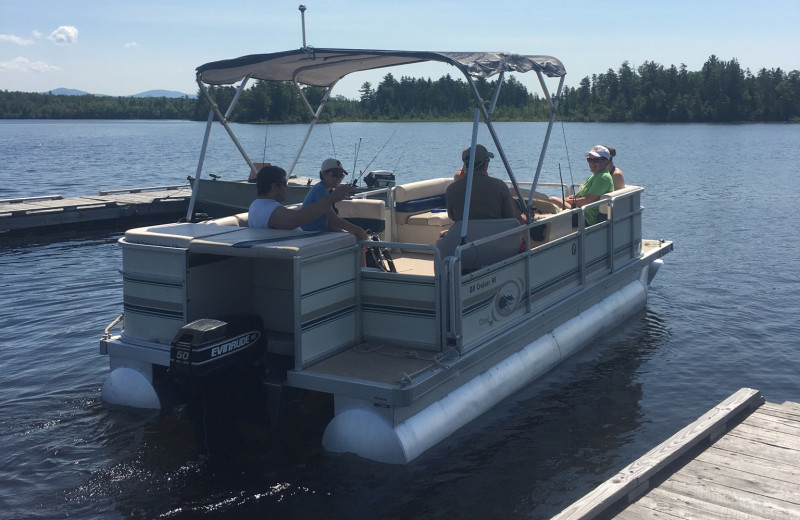 Pontoon at Wilsons on Moosehead Lake.