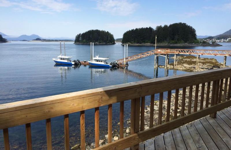 Dock at Quest Alaska Lodges.