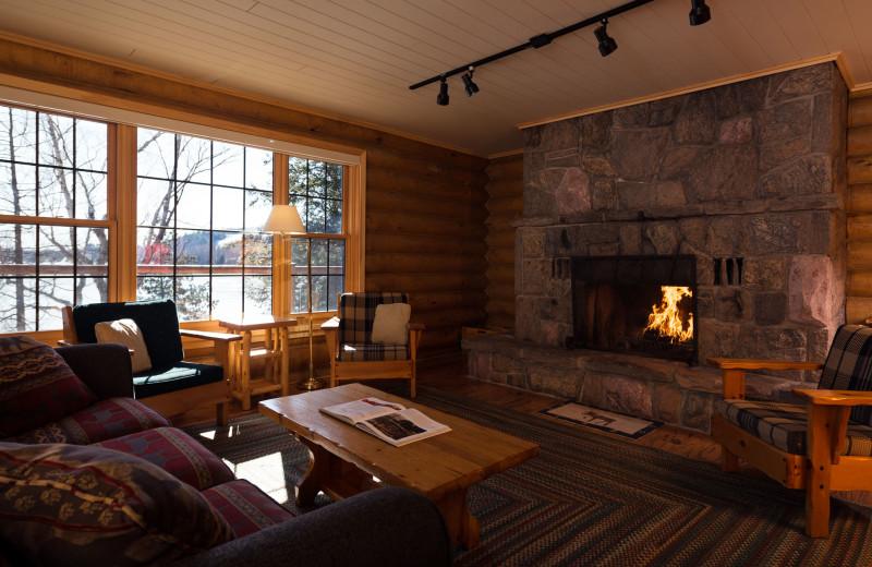 Guest living room at Cedar Grove Lodge.