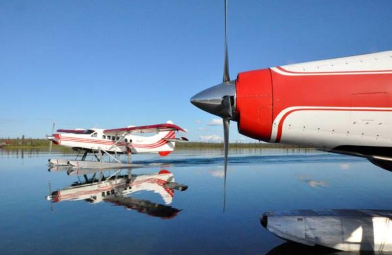 Sea planes at Plummer's Arctic Fishing Lodges.