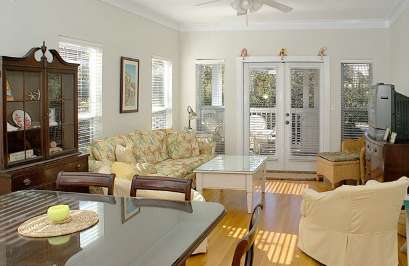 Vacation rental living room at Beach Rentals of South Walton.
