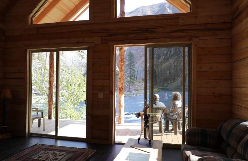 Cabin interior at Salmon River Tours.