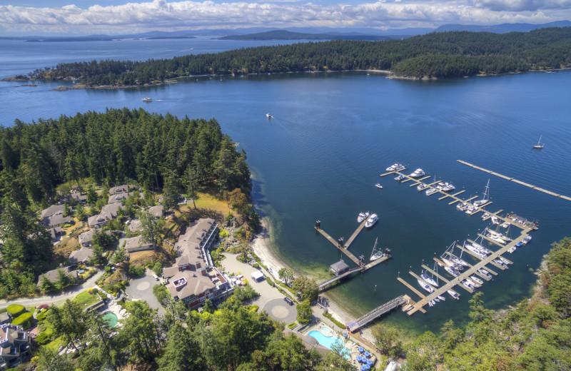 Aerial view of Poets Cove Resort & Spa.