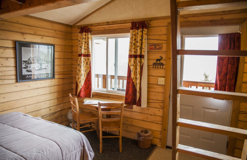 Guest room at Skyline Lodge.