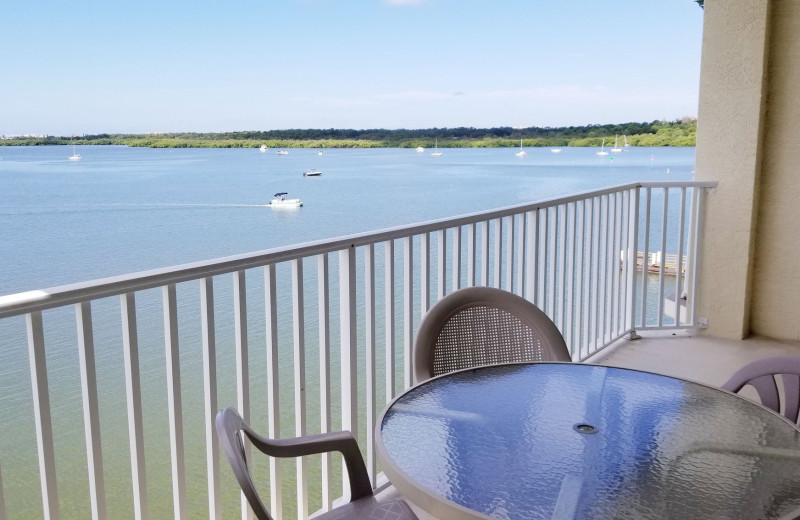 Guest balcony at Boca Ciega Resort.