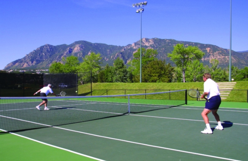 Tennis courts at Cheyenne Mountain Resort.