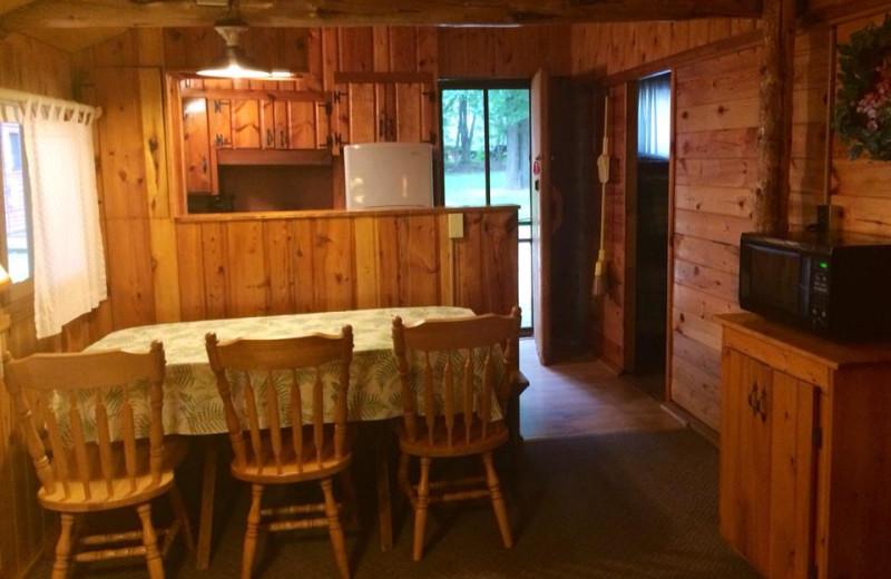 Cabin kitchen at Beacon Shores Resort.