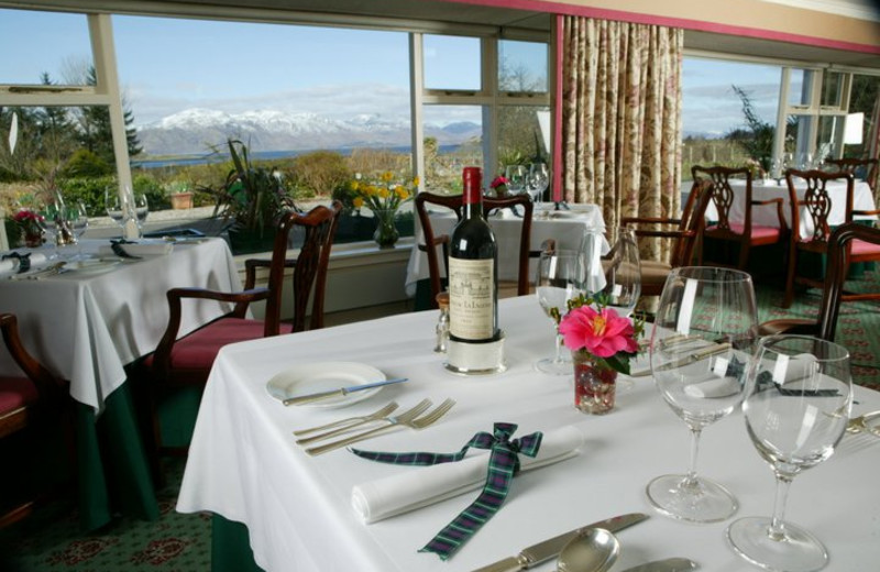 Dining room at Airds Hotel.