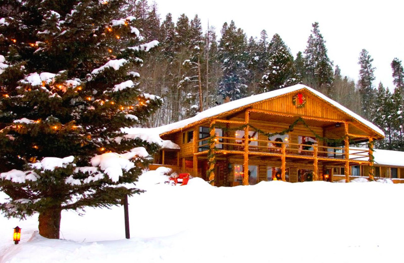 Winter time at C Lazy U Ranch.