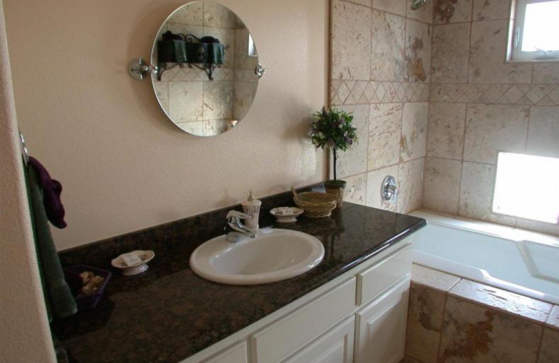 Rental bathroom at Coastal Vacation Rentals.