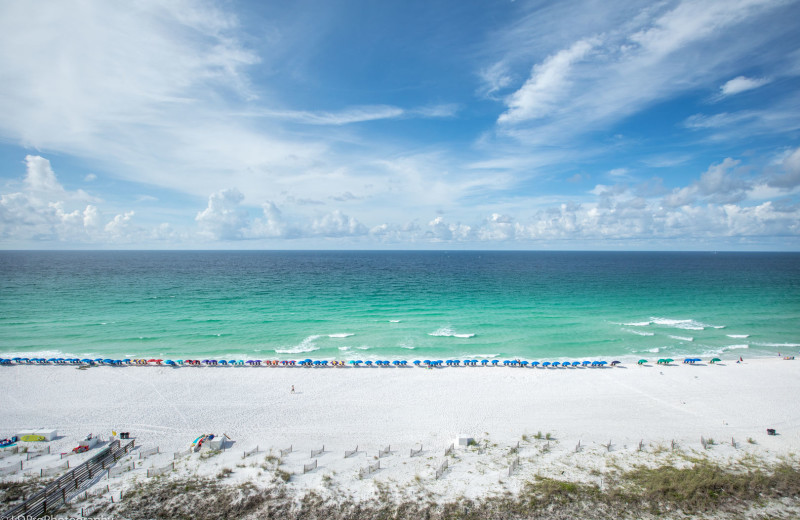 Beach view at Holiday Isle Properties, Inc.