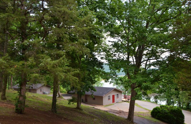 Cabin exterior at The Retreat at Center Hill Lake.