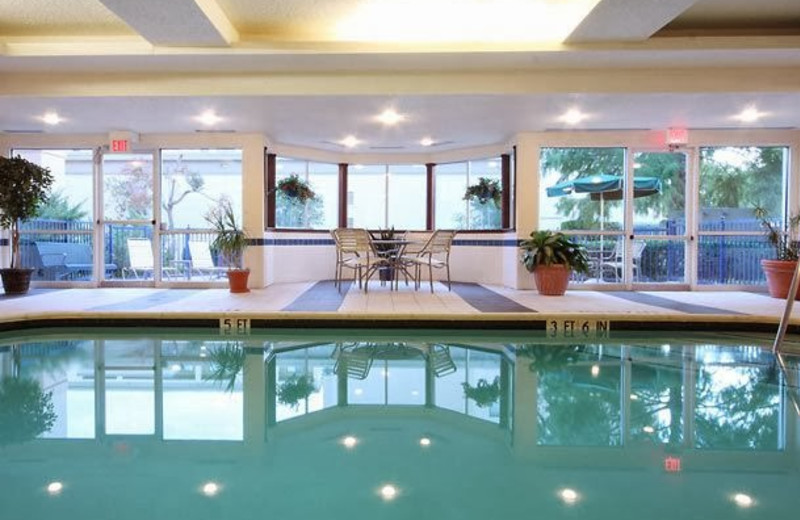 Indoor pool at Fairfield Inn & Suites Dallas Market Center.