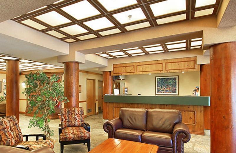 Lobby area at Cahilty Lodge.