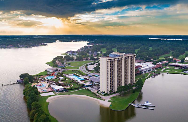 Aerial view of La Torretta Lake Resort & Spa.