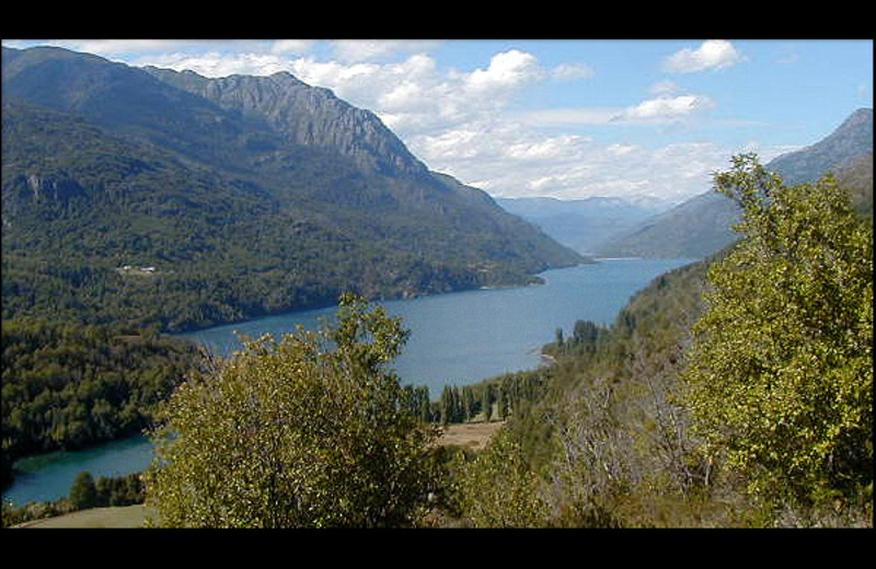 Scenic view of river at Argentinal Chile Fly Fishing Lodges.