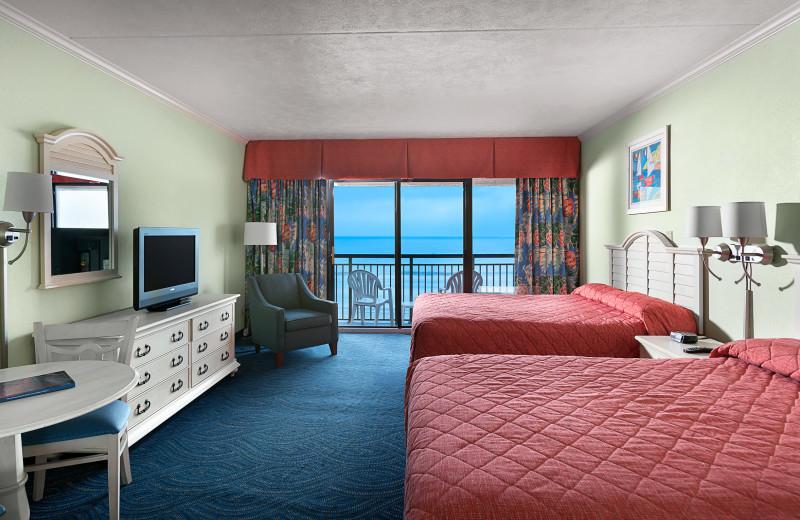 Guest room at Long Bay Resort.