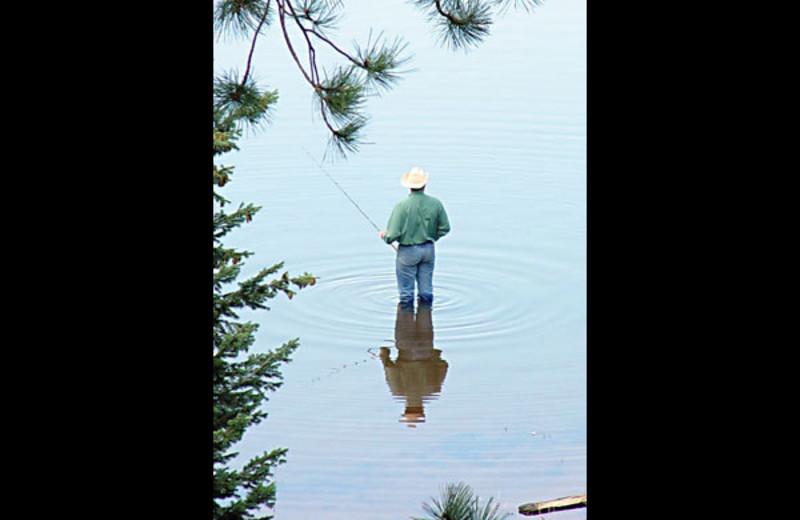Fishing at Monument Lake Resort.