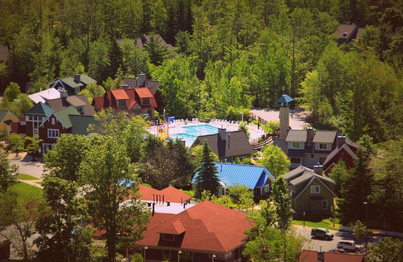 Exterior view of Crystal Mountain Resort and Spa.
