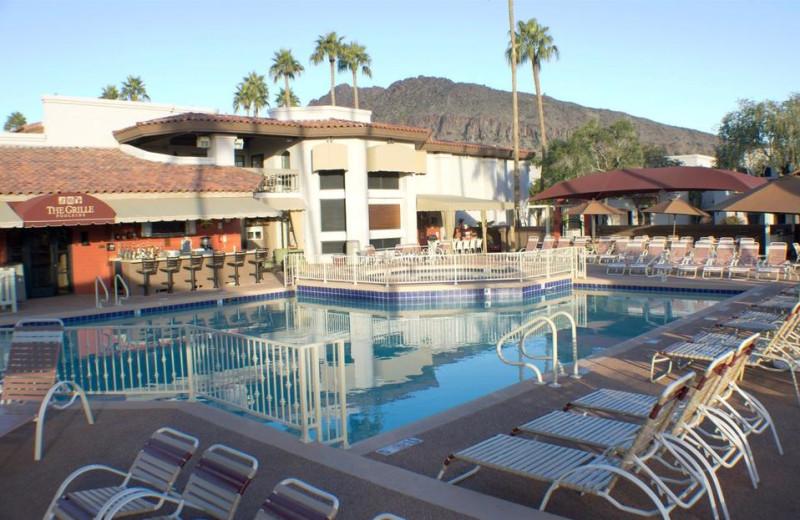 Outdoor pool at Scottsdale Camelback Resort.