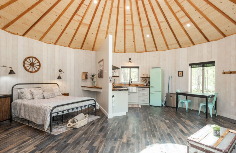 Rental yurt at Railey Vacations.