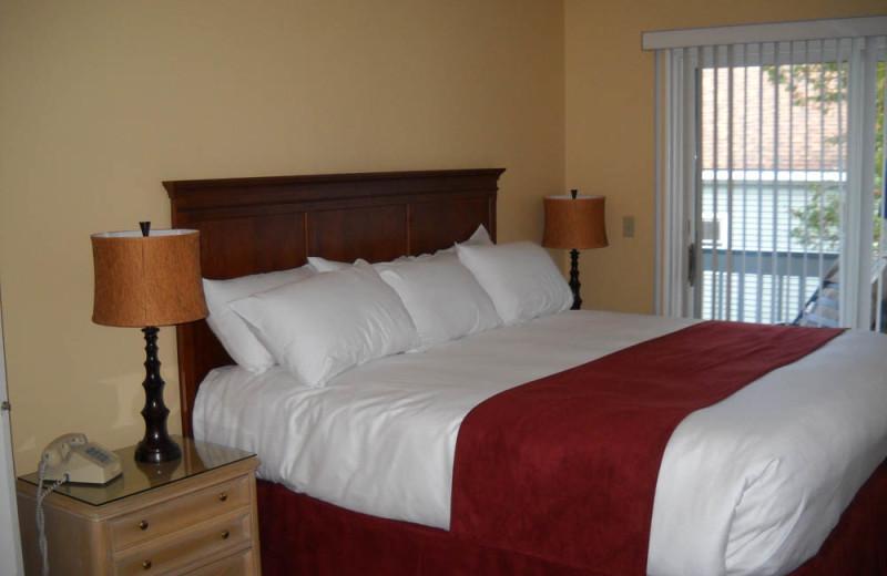 Rental bedroom at The Quarters at Lake George.