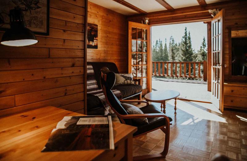 Cabin living room at Big Creek Lodge.