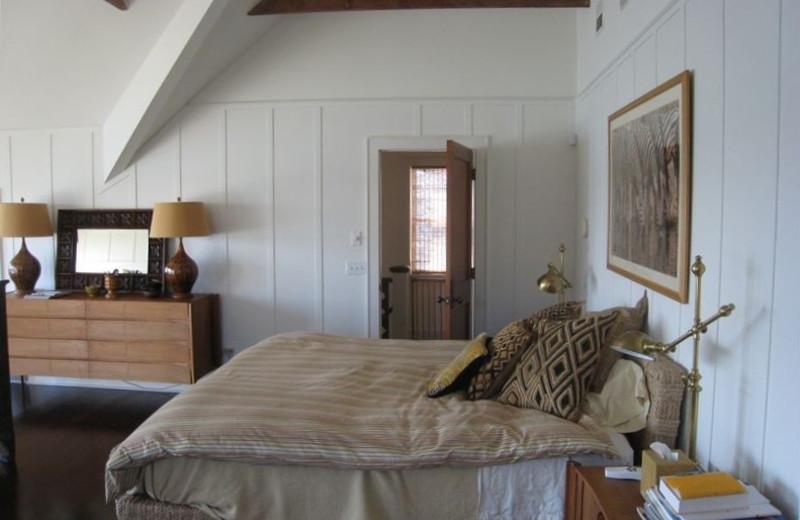 Vacation rental bedroom at Shorecrest Property Management & Real Estate.