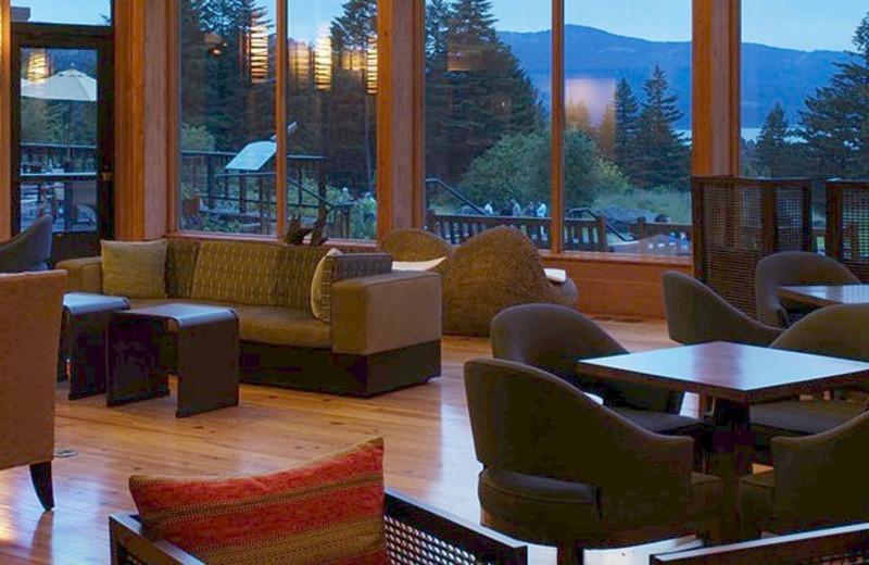 Lounge view at Skamania Lodge.