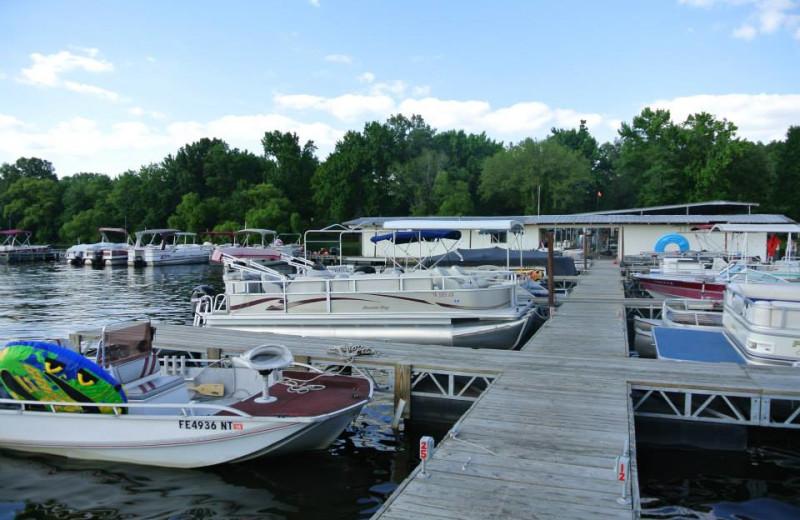 Dock at Mansard Island Resort & Marina.