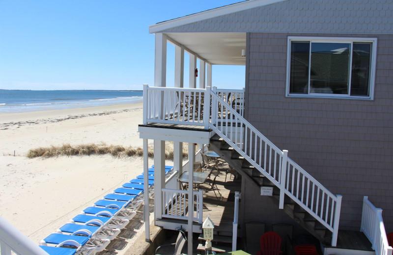 The beach at Ocean Walk Hotel.