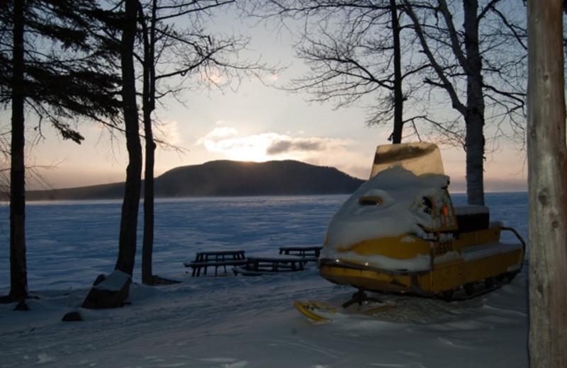 Winter sunrise at The Birches Resort.