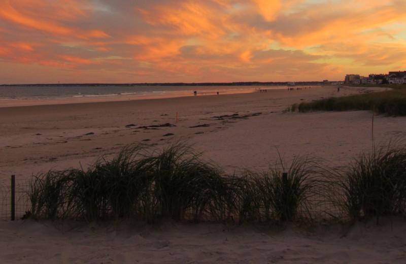 Sunset at Ocean Walk Hotel.
