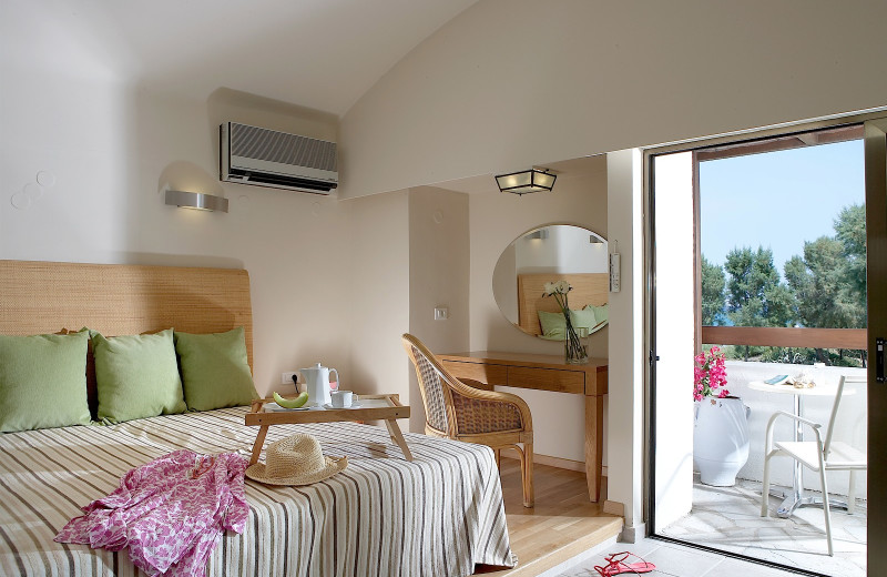 Guest room at Grecotel Agapi Beach.