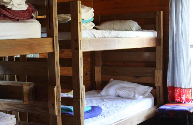 Camp bunk beds at Camp Balcones Spring.