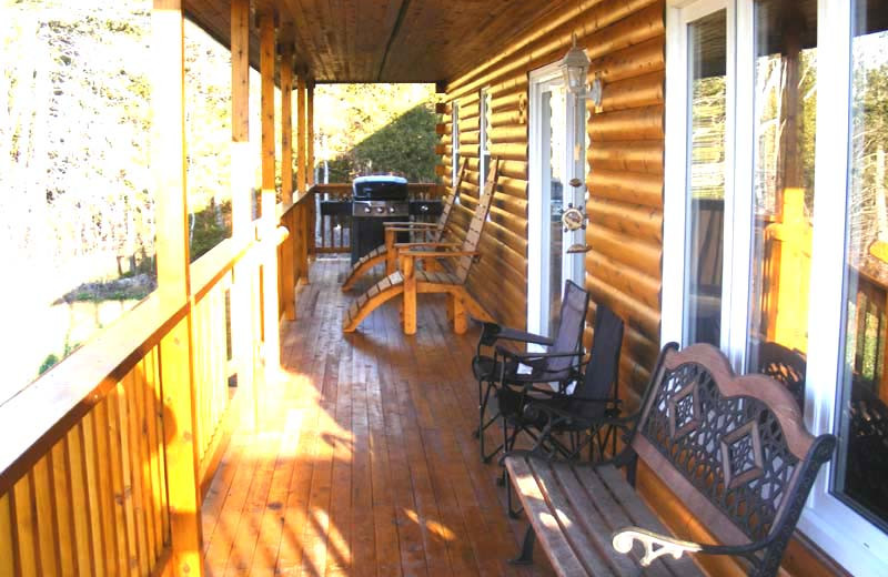Deck view at Country Haven Lodge.