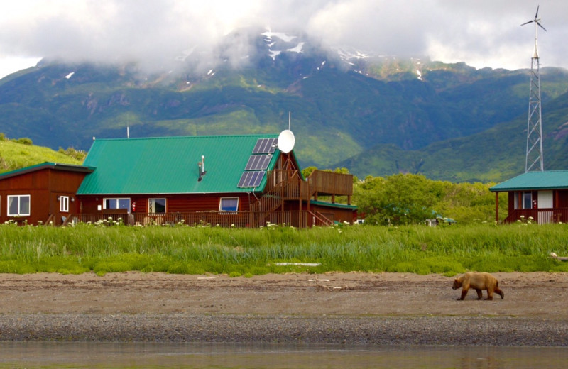 Exterior view of Katmai Wilderness Lodge.
