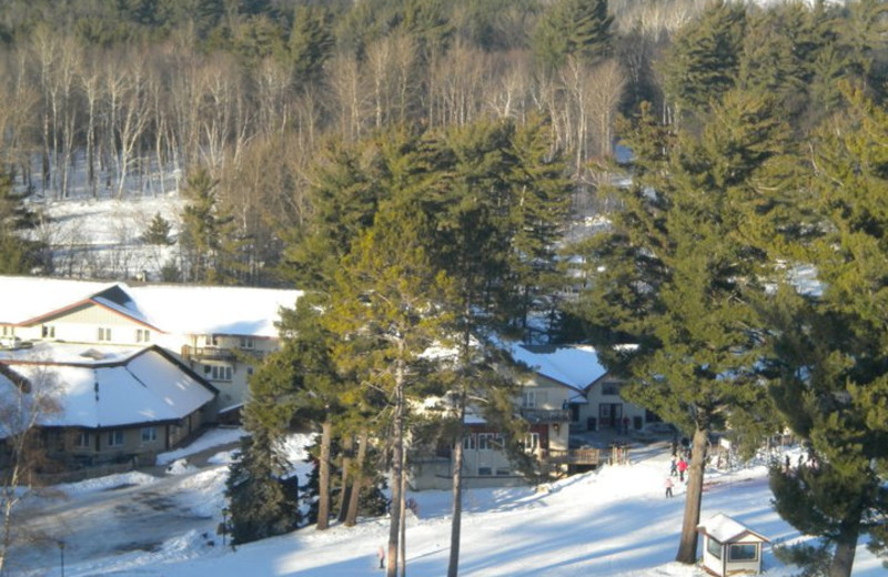 Exterior Winter View at Pine Mountain Resort