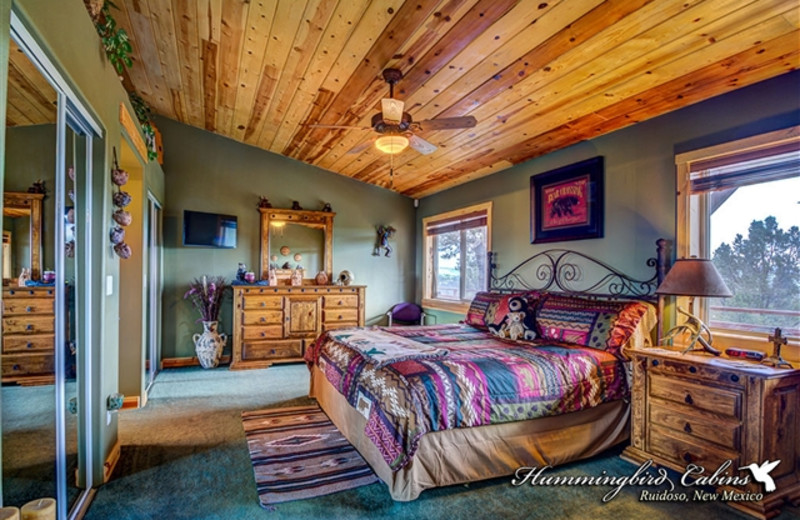 Master bedroom at Hummingbird Cabins - Bear Crossing Vacation Rental
