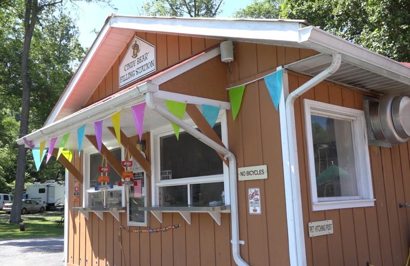 Snack shop at Yogi at Shangri-La - Jellystone Park.