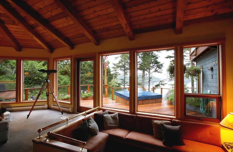 Lounge at Snug Harbour Inn.