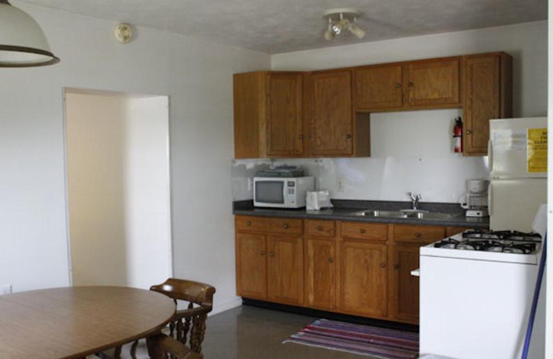 Guest kitchen at Kentucky Beach Resort.