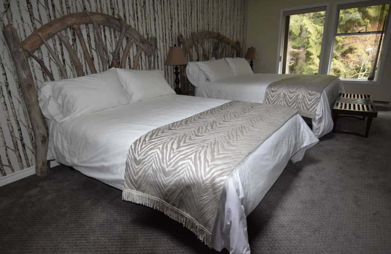 Guest room at Ocean Wilderness Inn & Spa Retreat.